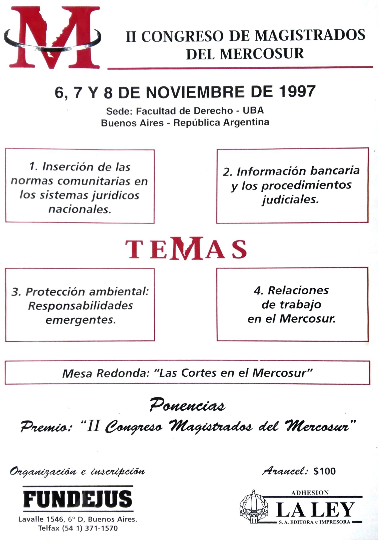 «II CONGRESO DE MAGISTRADOS DEL MERCOSUR»