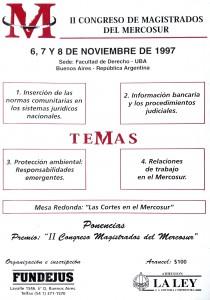 II congreso de magistrados del mercosur