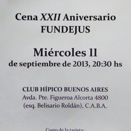 """Cena XXII Aniversario de Fundejus"""