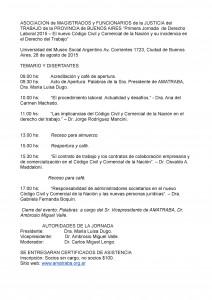 AMATRABA - Primera jornada de Derecho Laboral 2015