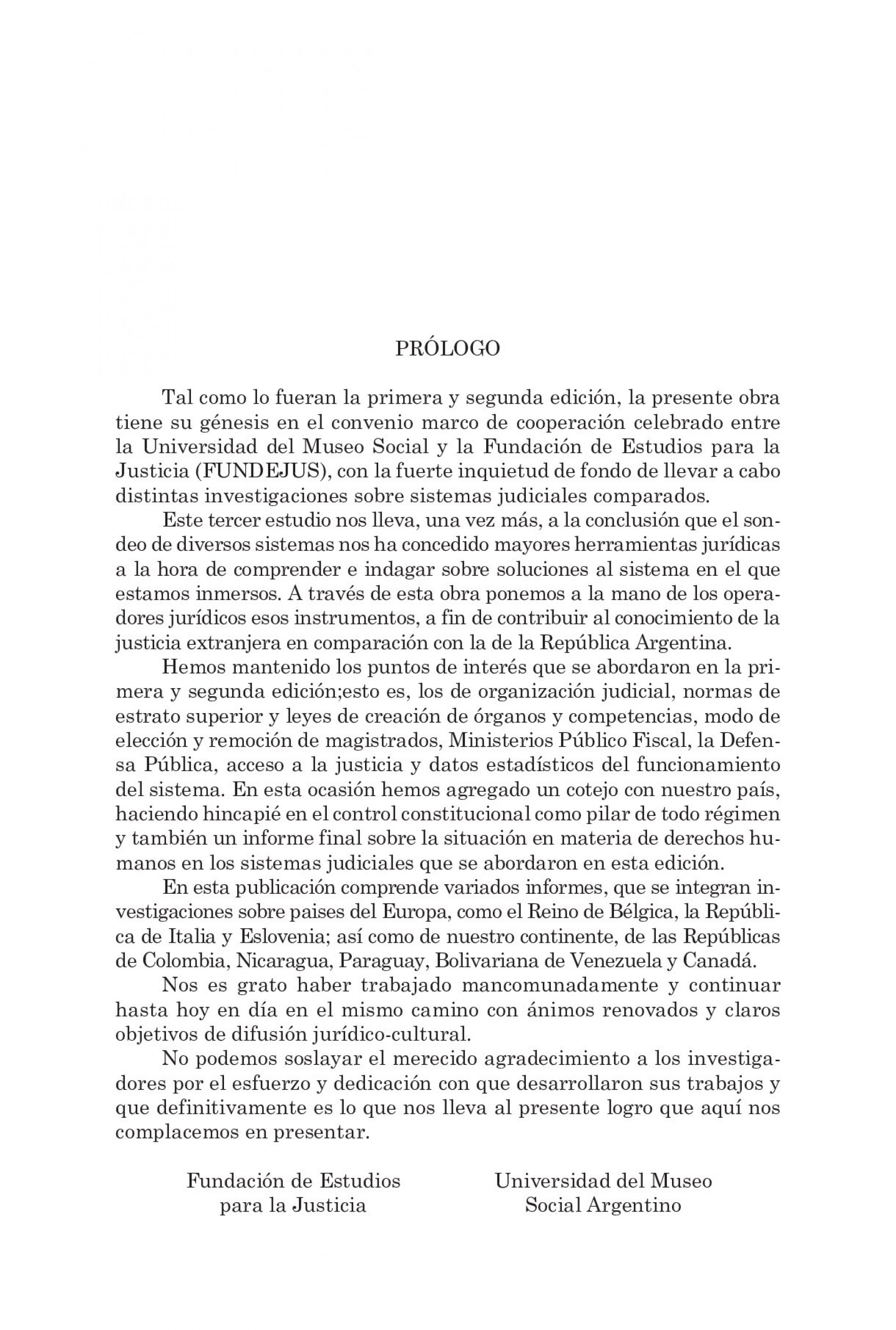 Sistemas Judiciales Comparados III – COORDINADORA: Laura Elizabeth Mato.