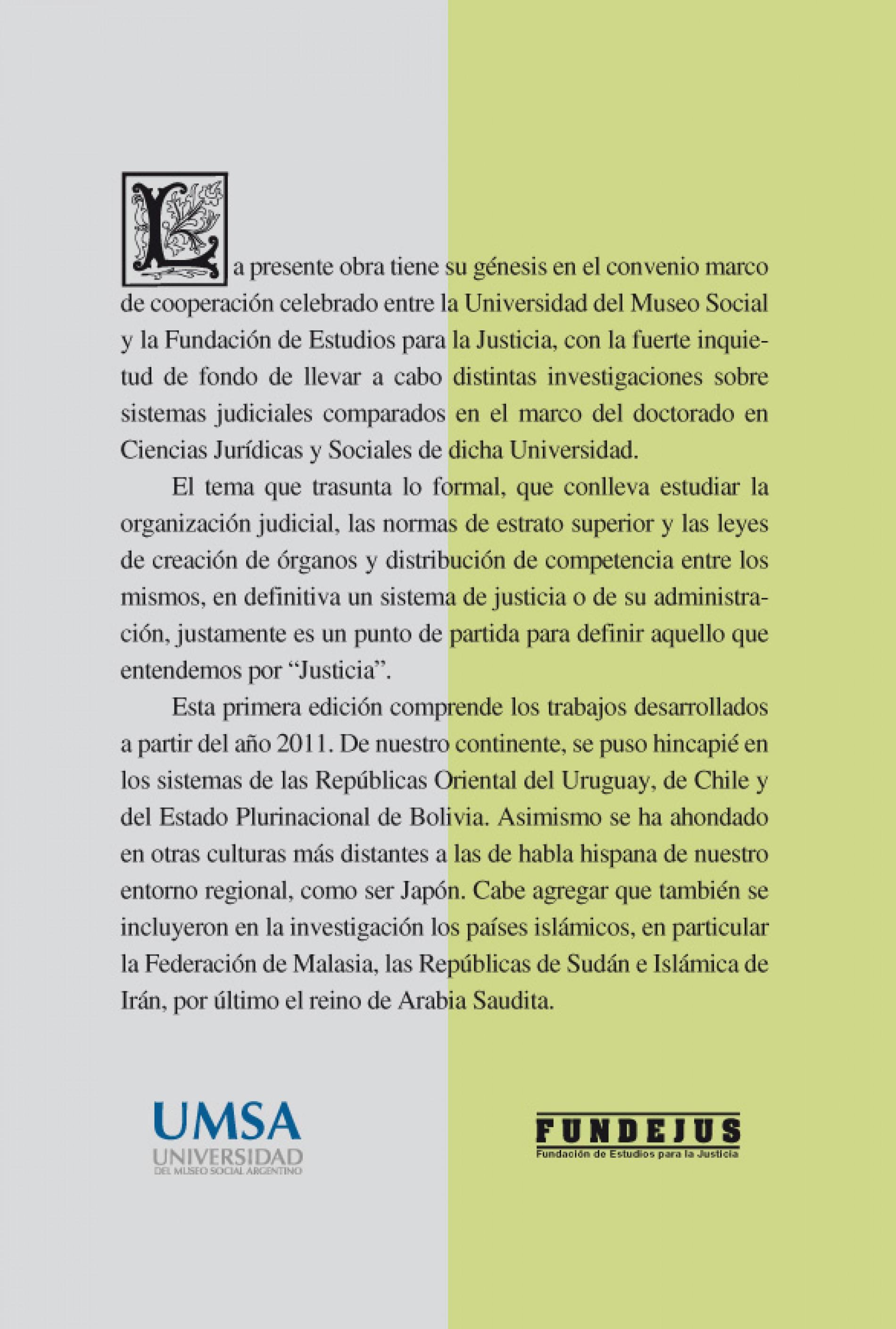 Sistemas Judiciales Comparados I. COORDINADOR: Nicolás Grappasonno