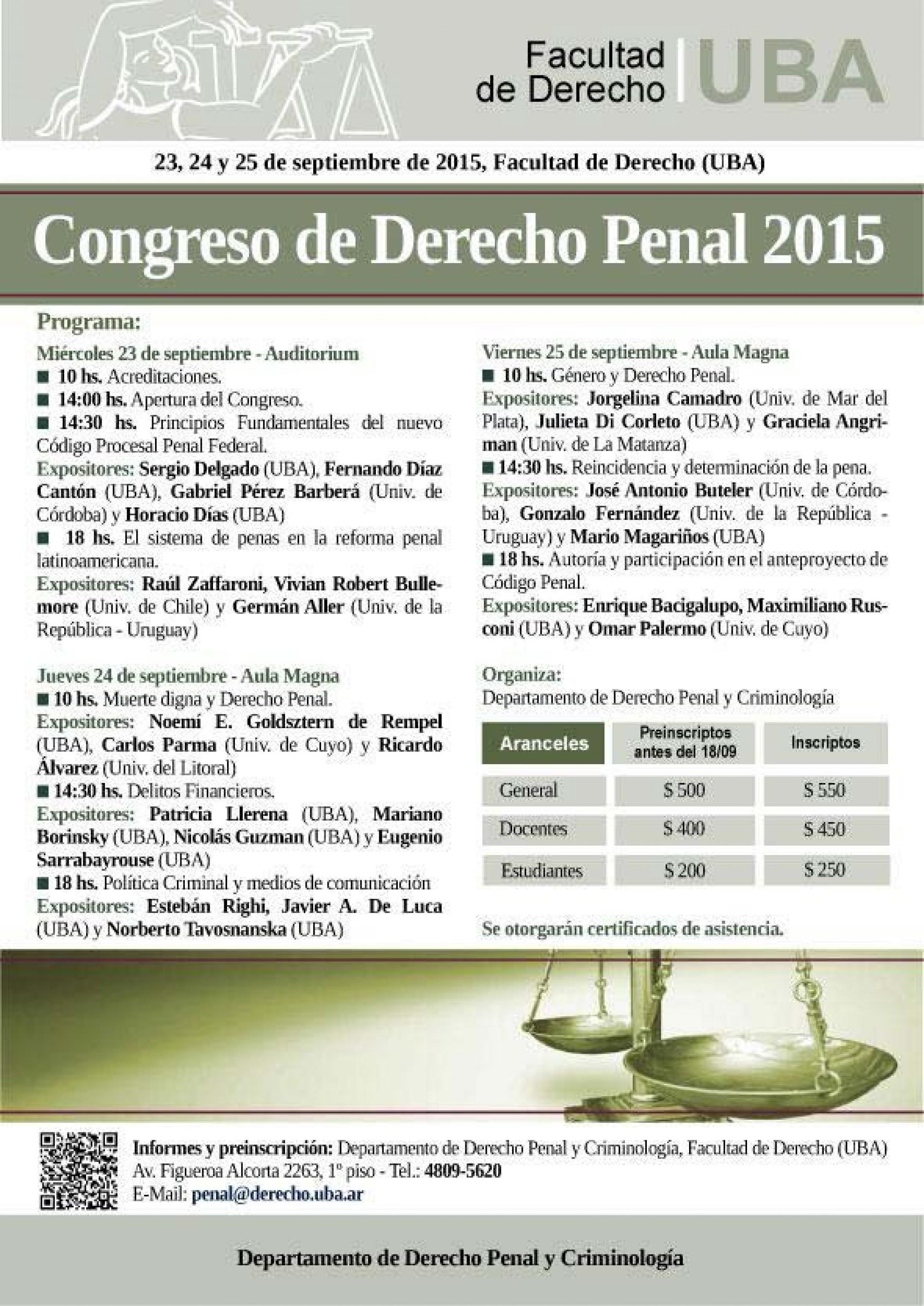 Congreso de Derecho Penal 2015