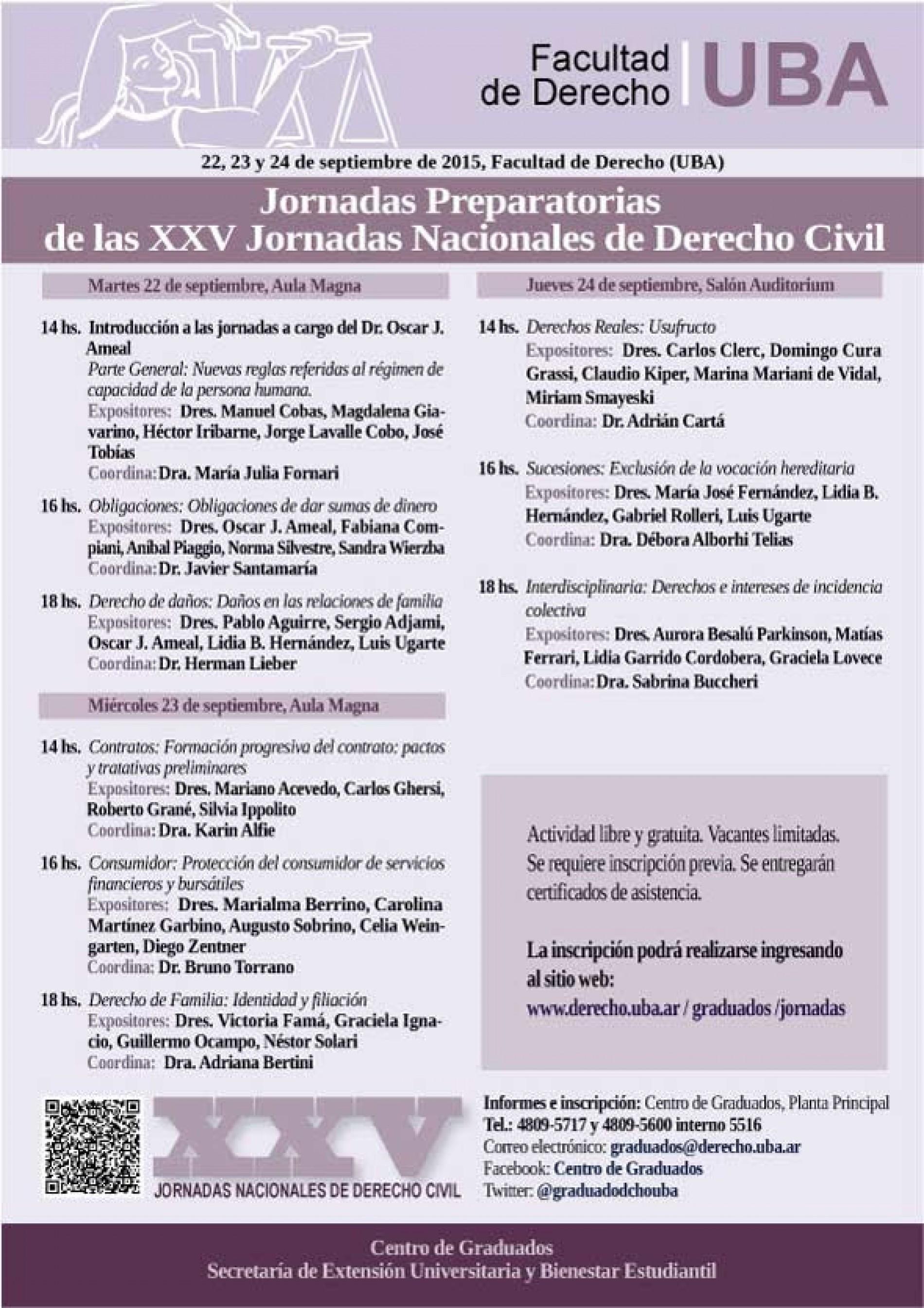 Jornadas Preparatorias de las XXV Jornadas Nacionales de Derecho Civil