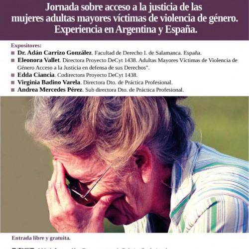 Jornada sobre acceso a la justicia de las mujeres adultas mayores víctimas de violencia de género.