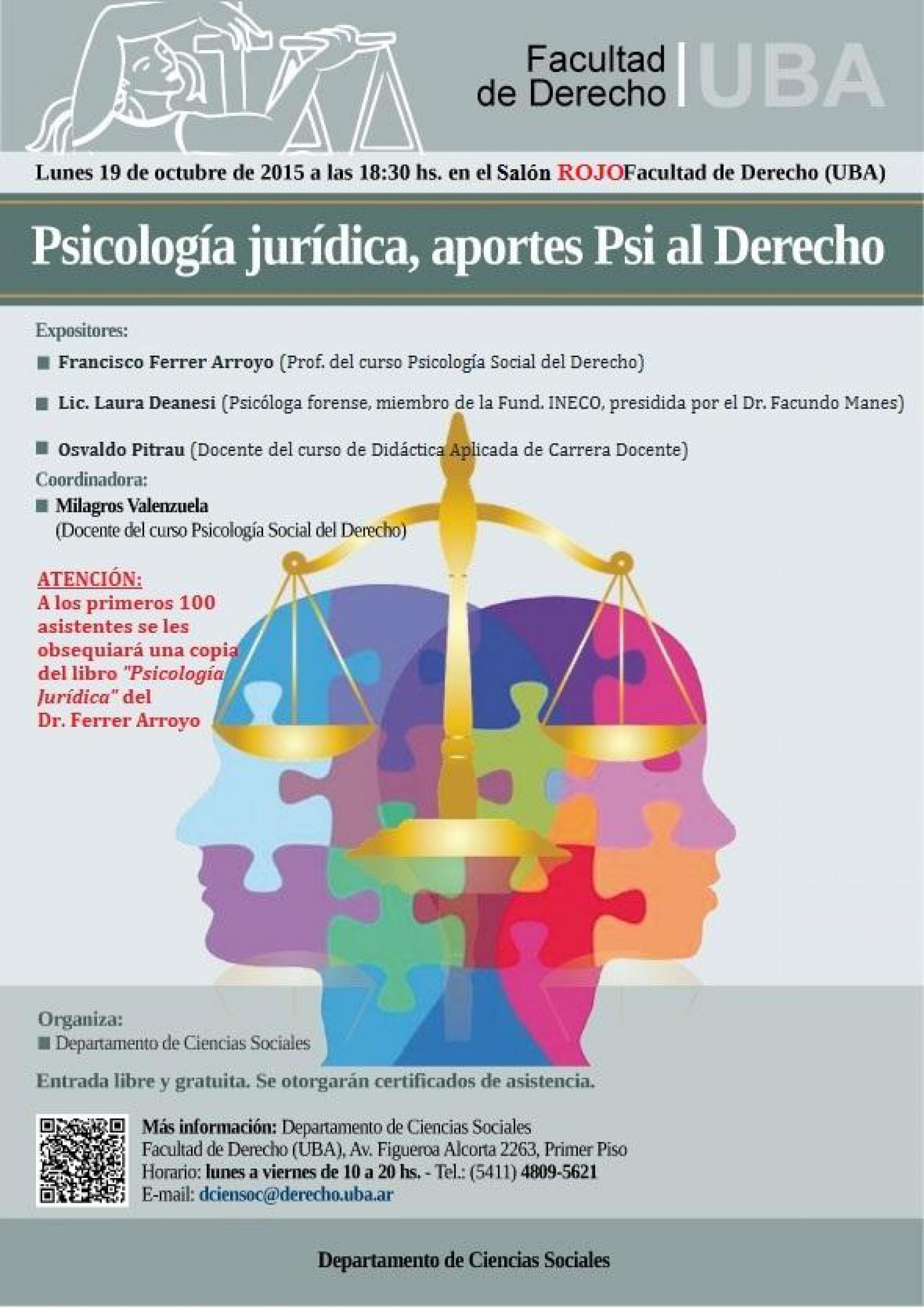Psicología Jurídica, aportes Psi al Derecho