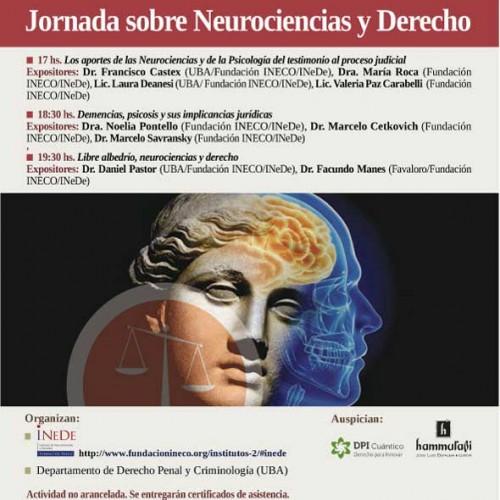 Jornada sobre Neurociencias y Derecho