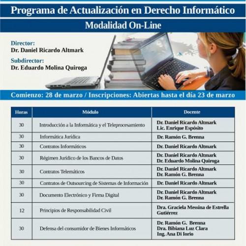 Programa de Actualización en Derecho Informático – Modalidad on line