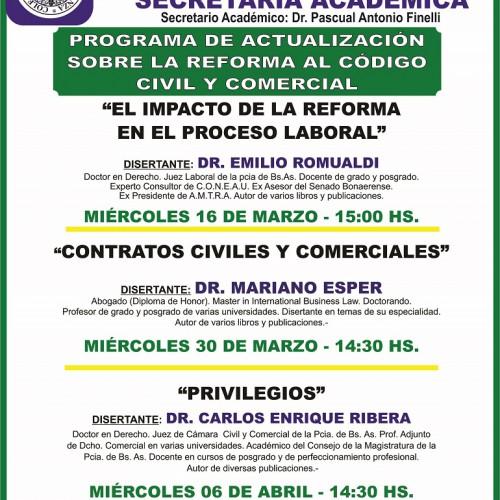 Programa de actualización del nuevo código civil y comercial: difusión