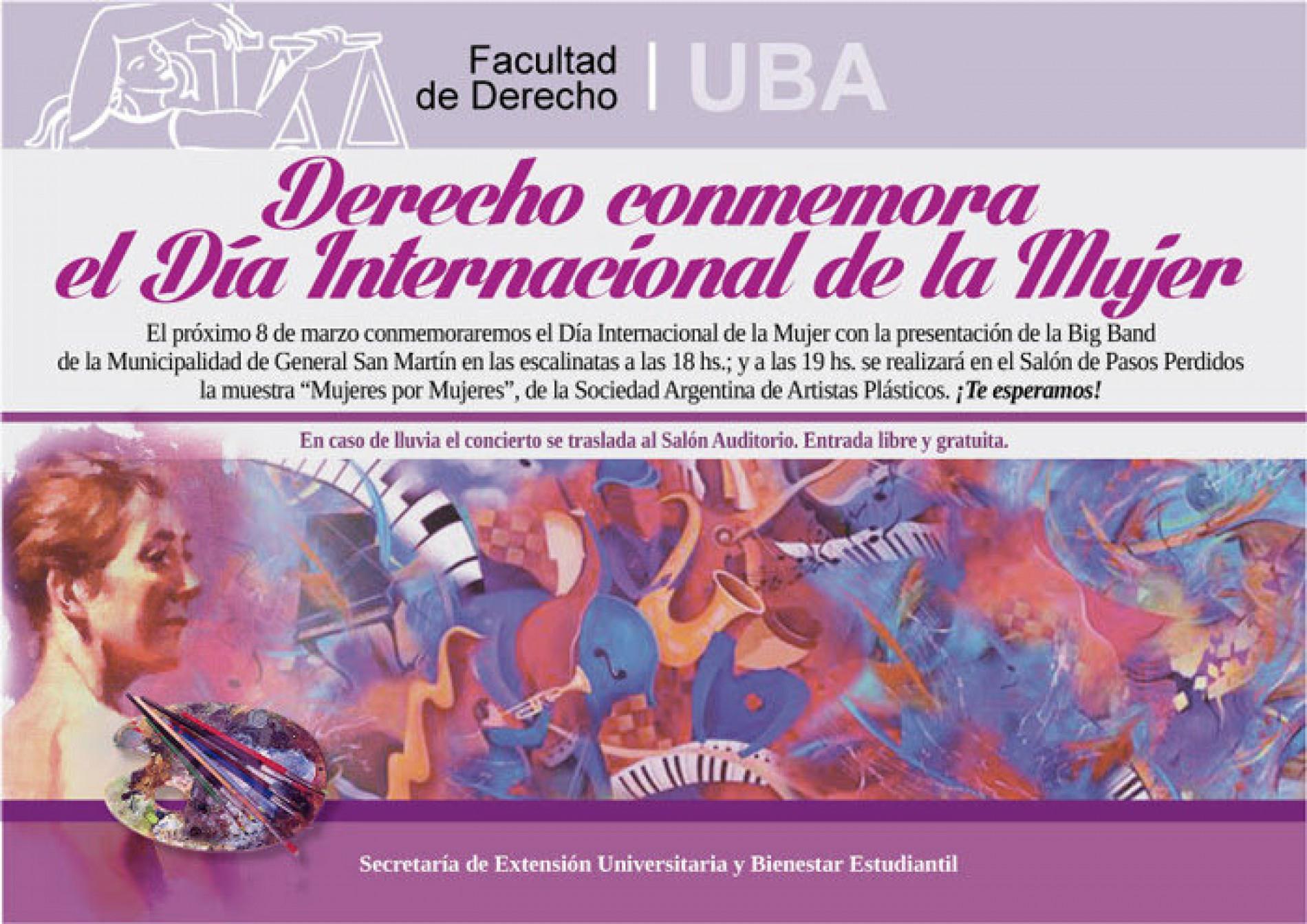 Conmemoración del Día Internacional de la Mujer en la Facultad de Derecho