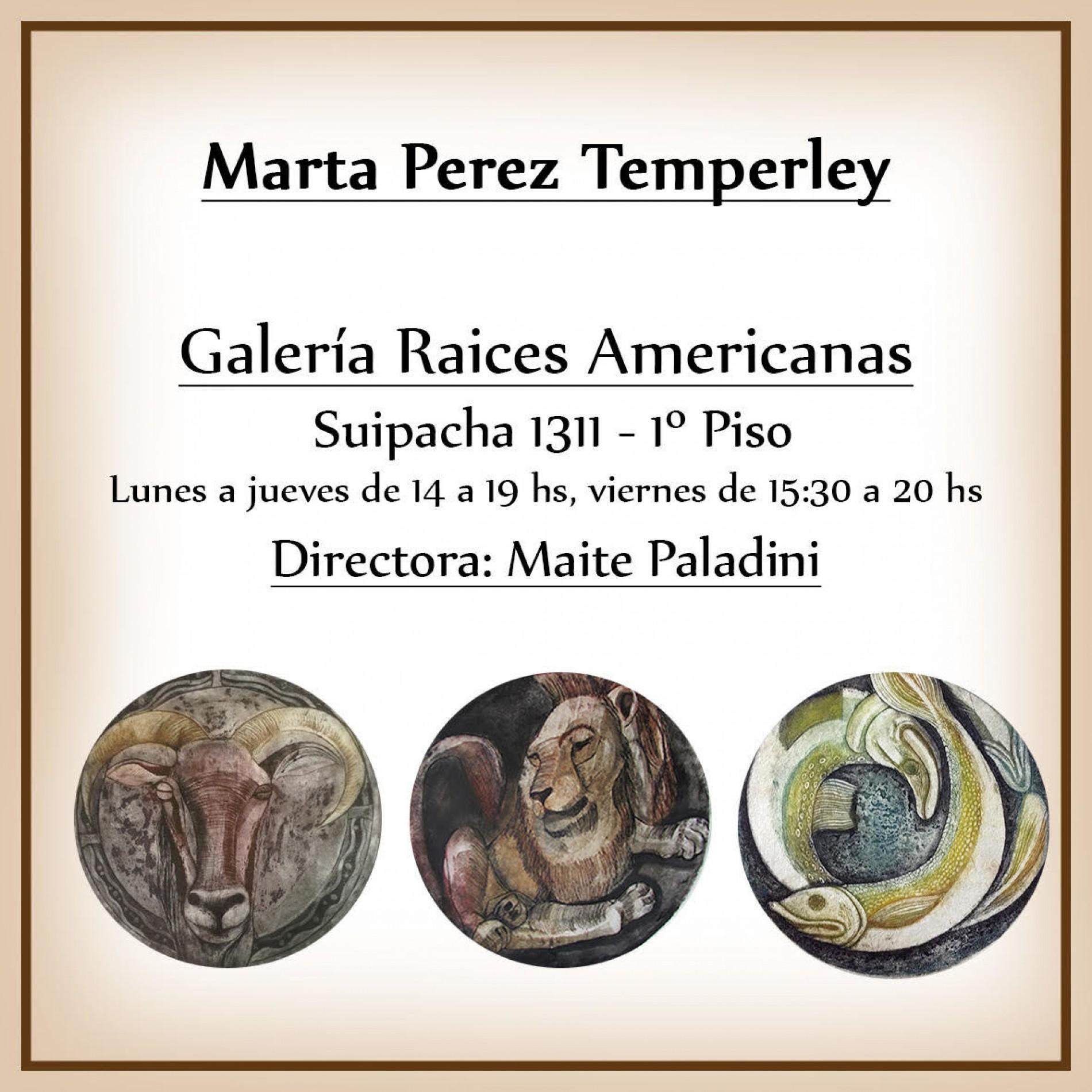 Adherente Marta Perez Temperley: » Galería Raices Americanas «