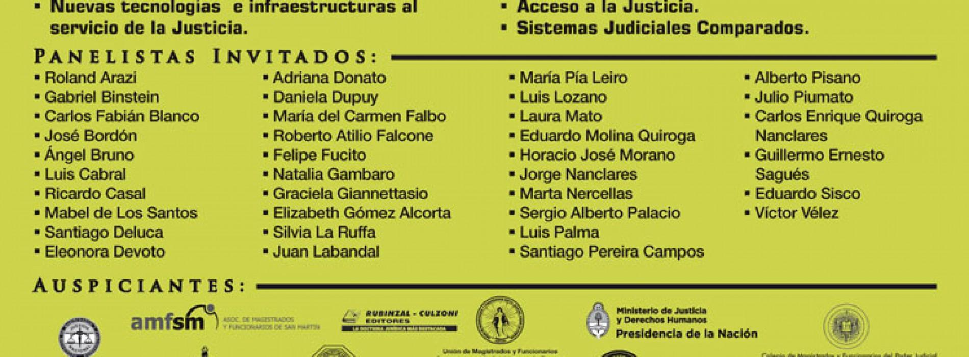 Jornadas Nacionales sobre transformaciones en la Justicia