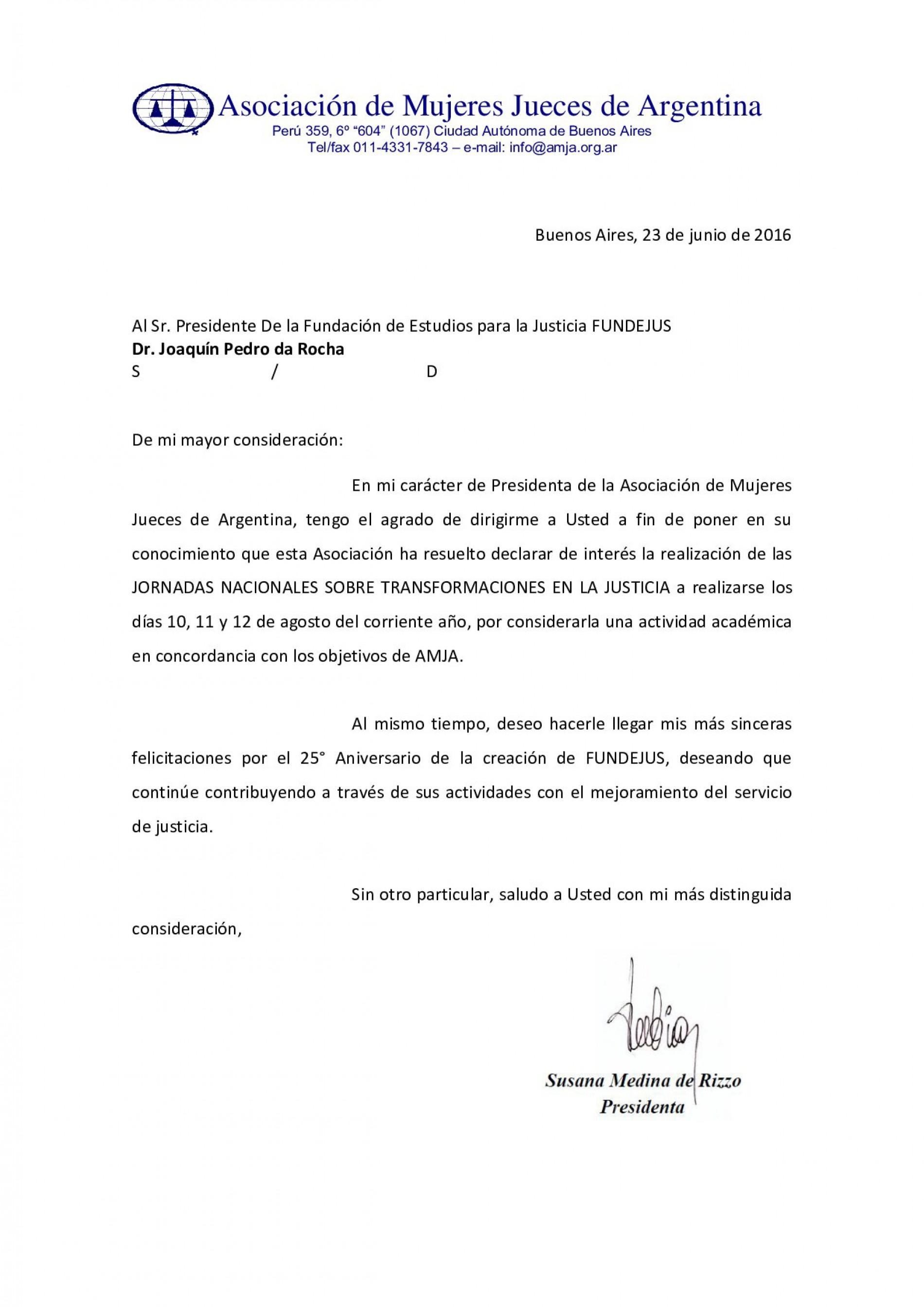 Asociación de Mujeres Jueces de Argentina – Declara de interés las Jornadas Nacionales sobre Transformaciones en la Justicia