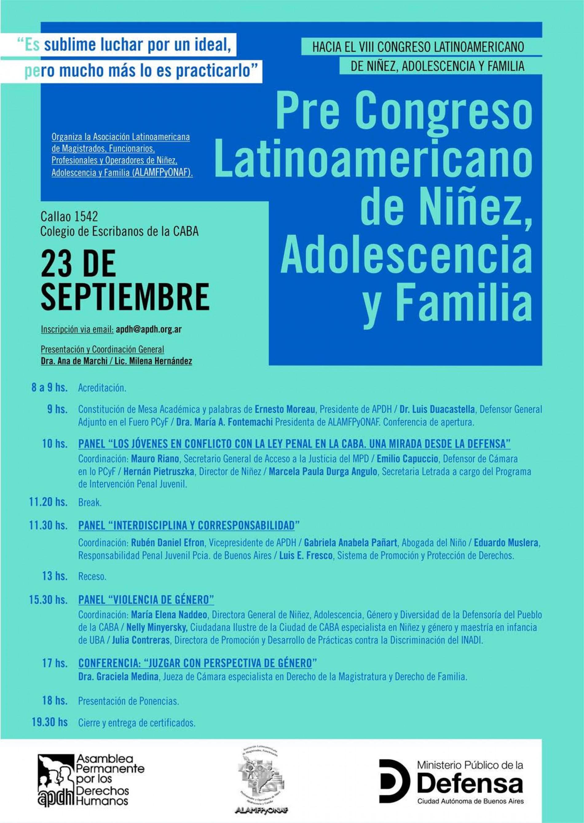 Pre Congreso Latinoamericano de Niñez, Adolescencia y Familia