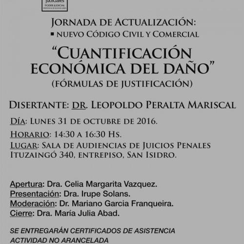 """"""" Cuantificación del daño punitivo """": Jornada de actualización."""