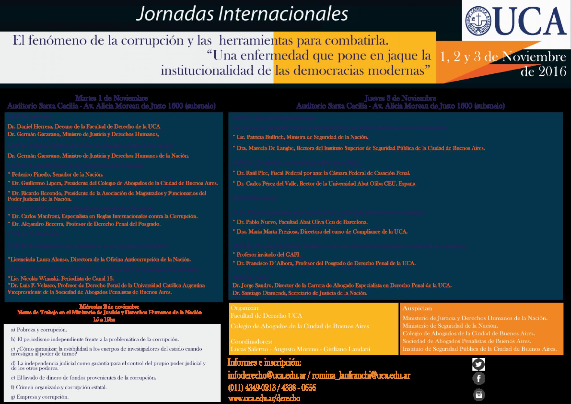 JORNADAS INTERNACIONALES UCA