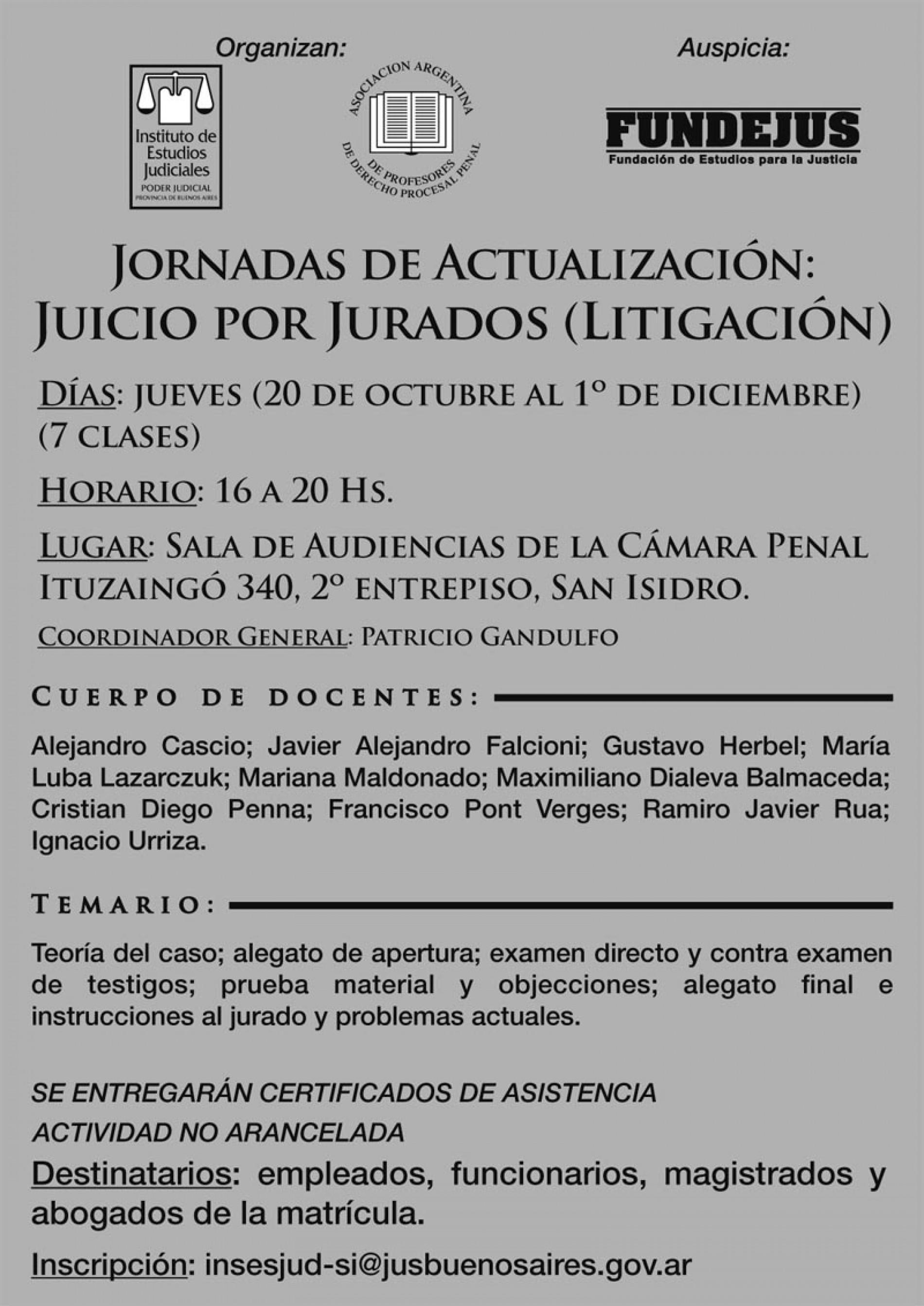 Juicio por Jurados » litigación «