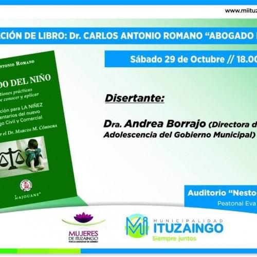 """Presentación de libro: """" Abogado del Niño """": adherente Carlos A. Romano"""