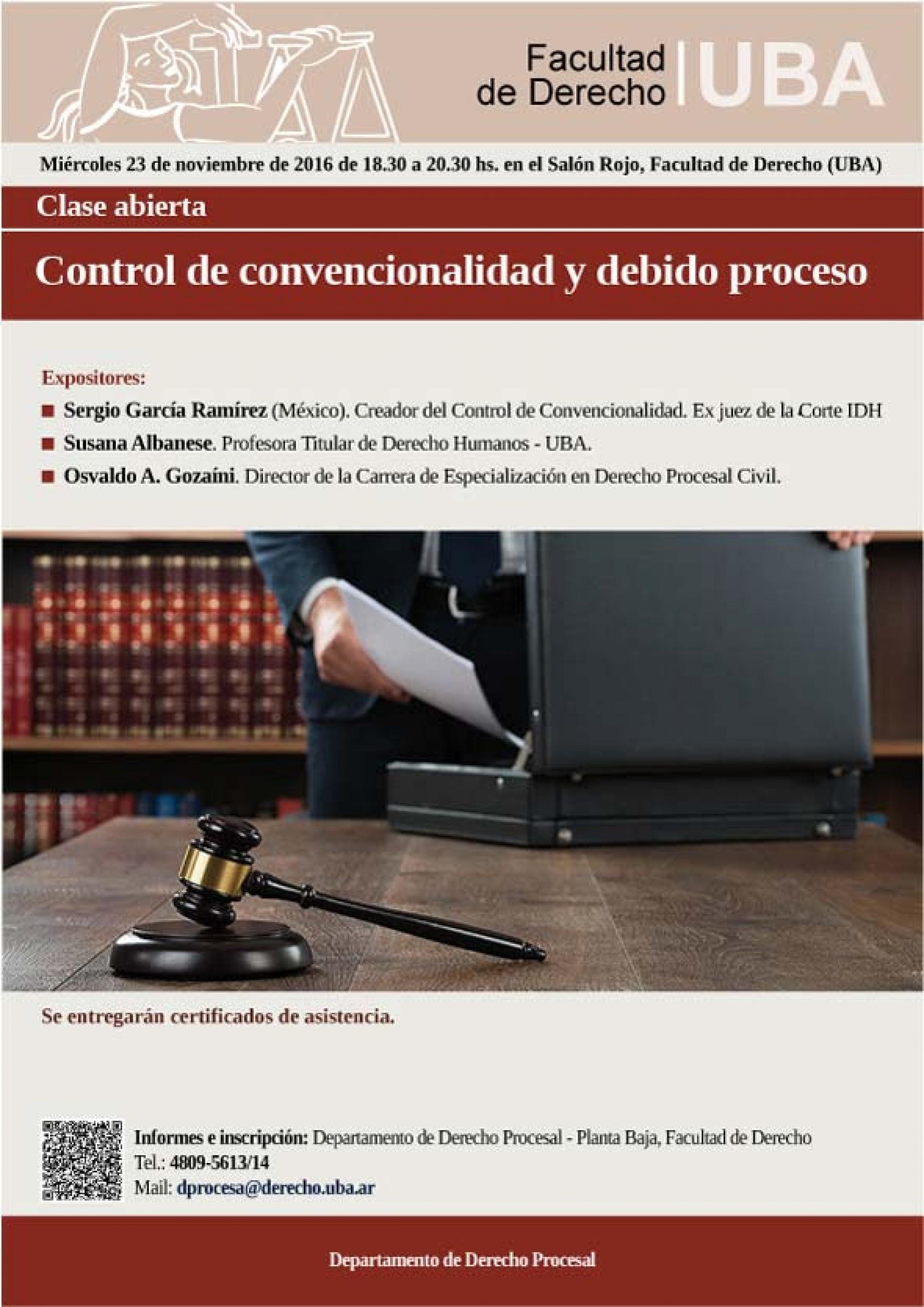 «Control de convencionalidad y debido proceso»