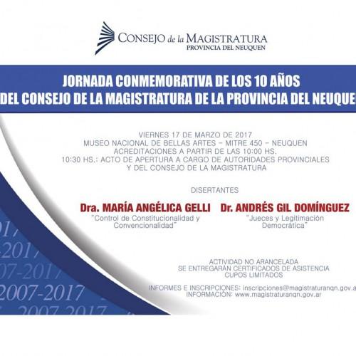 Jornada Conmemorativa de los 10 años del Consejo de la Magistratura de la Provincia de Neuquén