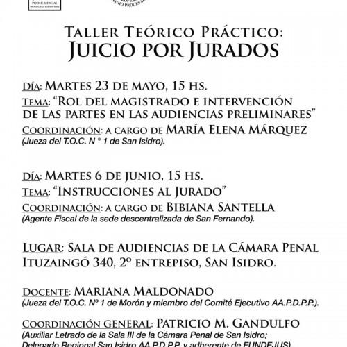 """"""" Taller Teórico Práctico: Juicio por Jurados """""""