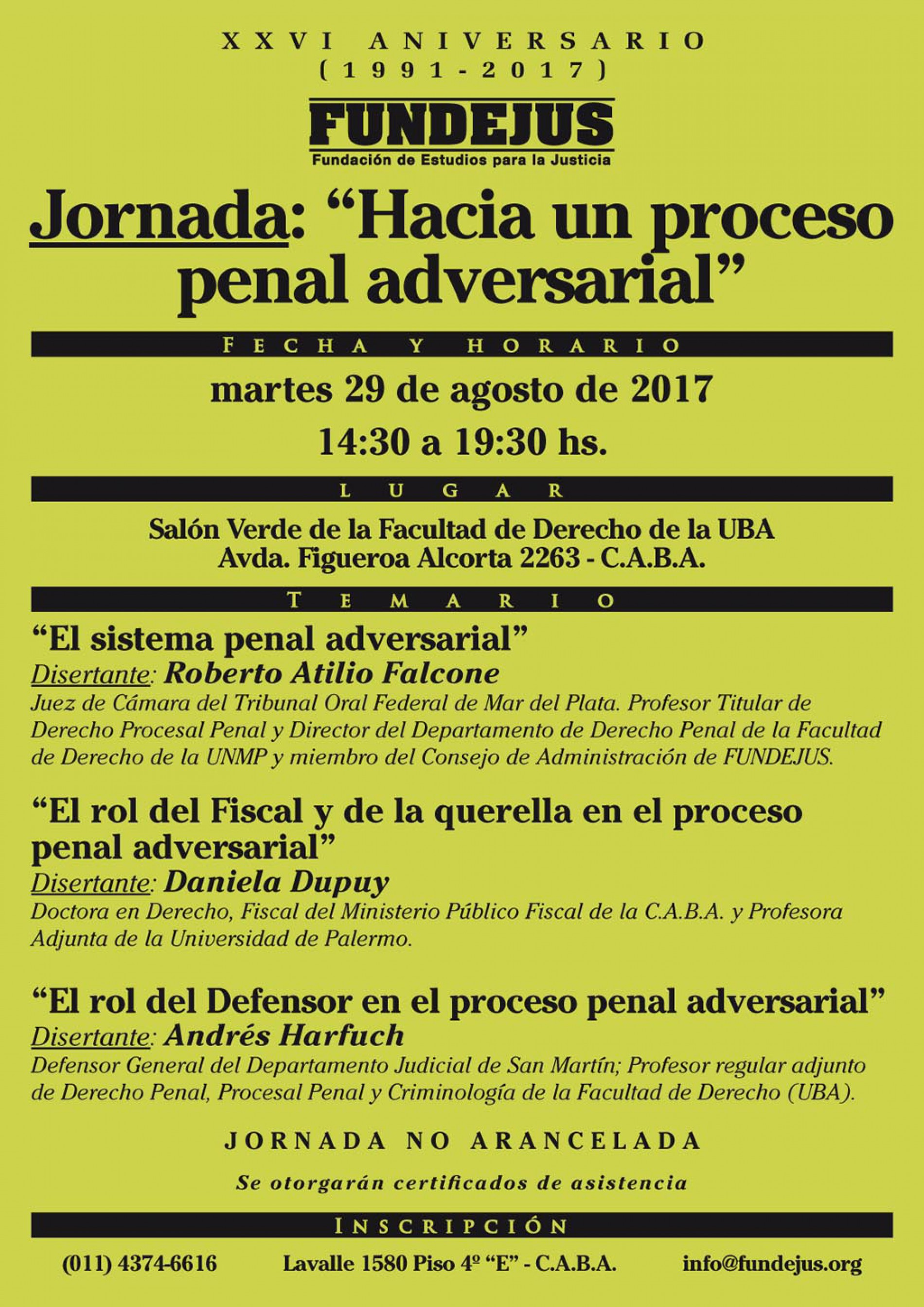 Jornada: «Hacia un proceso penal adversarial»