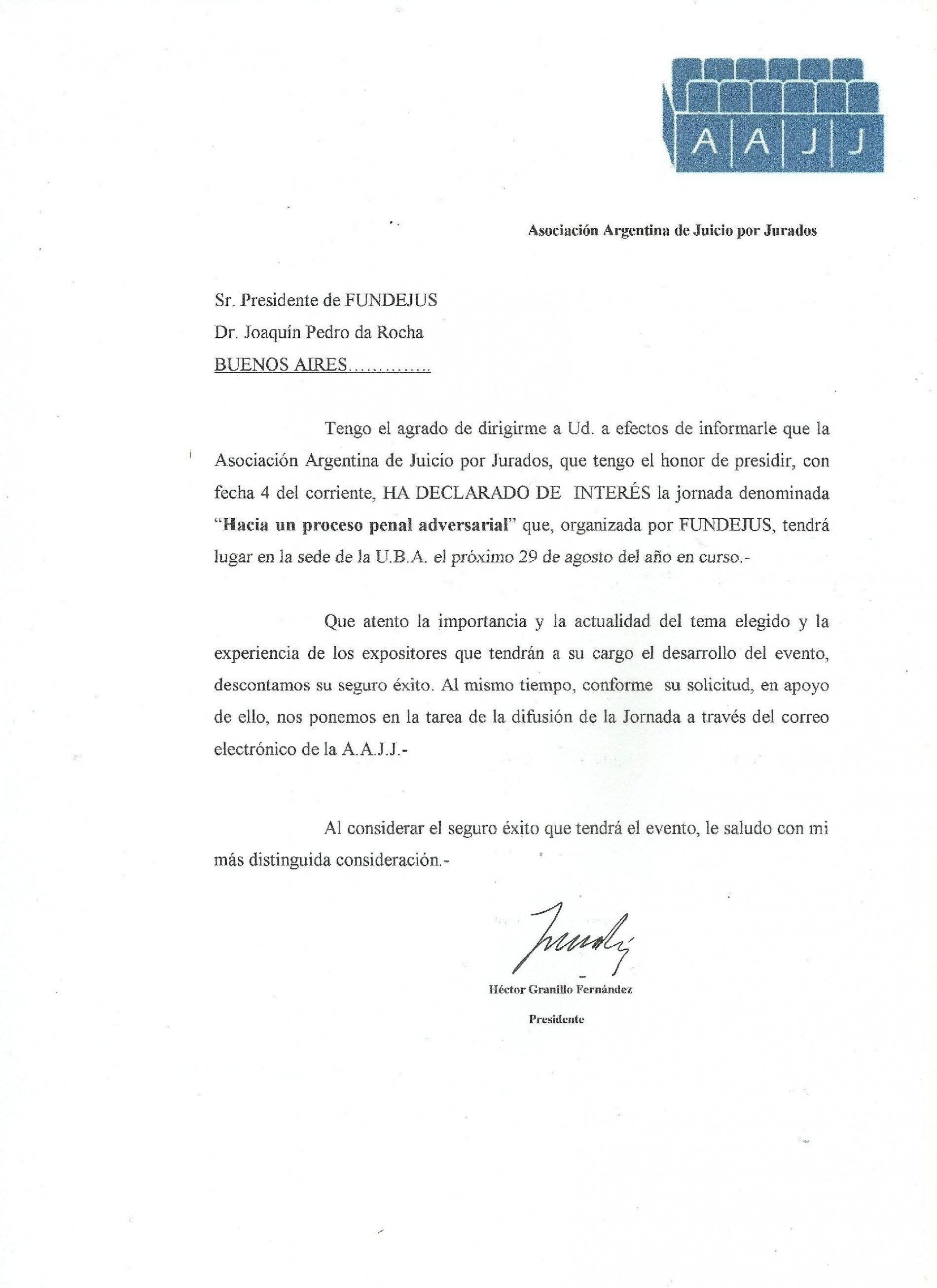 » Hacia un proceso penal adversarial «: Declaración de interés de la Asociación Argentina de Juicio por Jurados