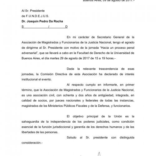 """""""Hacia un proceso penal adversarial"""": Declaración de interés de la Asociación de Magistrados y Funcionarios de la Justicia Nacional"""