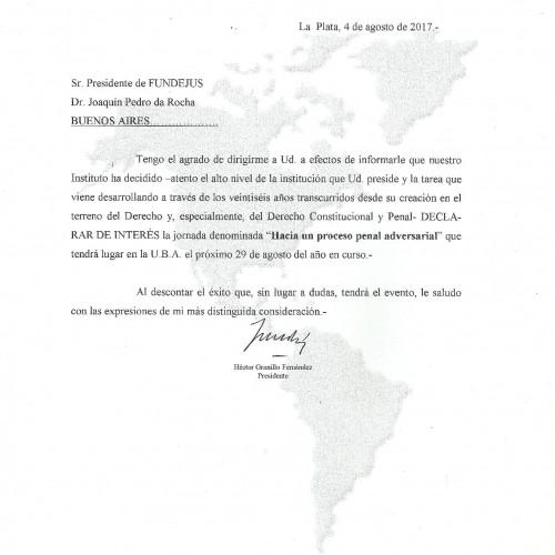 """"""" Hacia un proceso penal adversarial """": Declaración de interés del Instituto Panamericano de Derecho Procesal"""