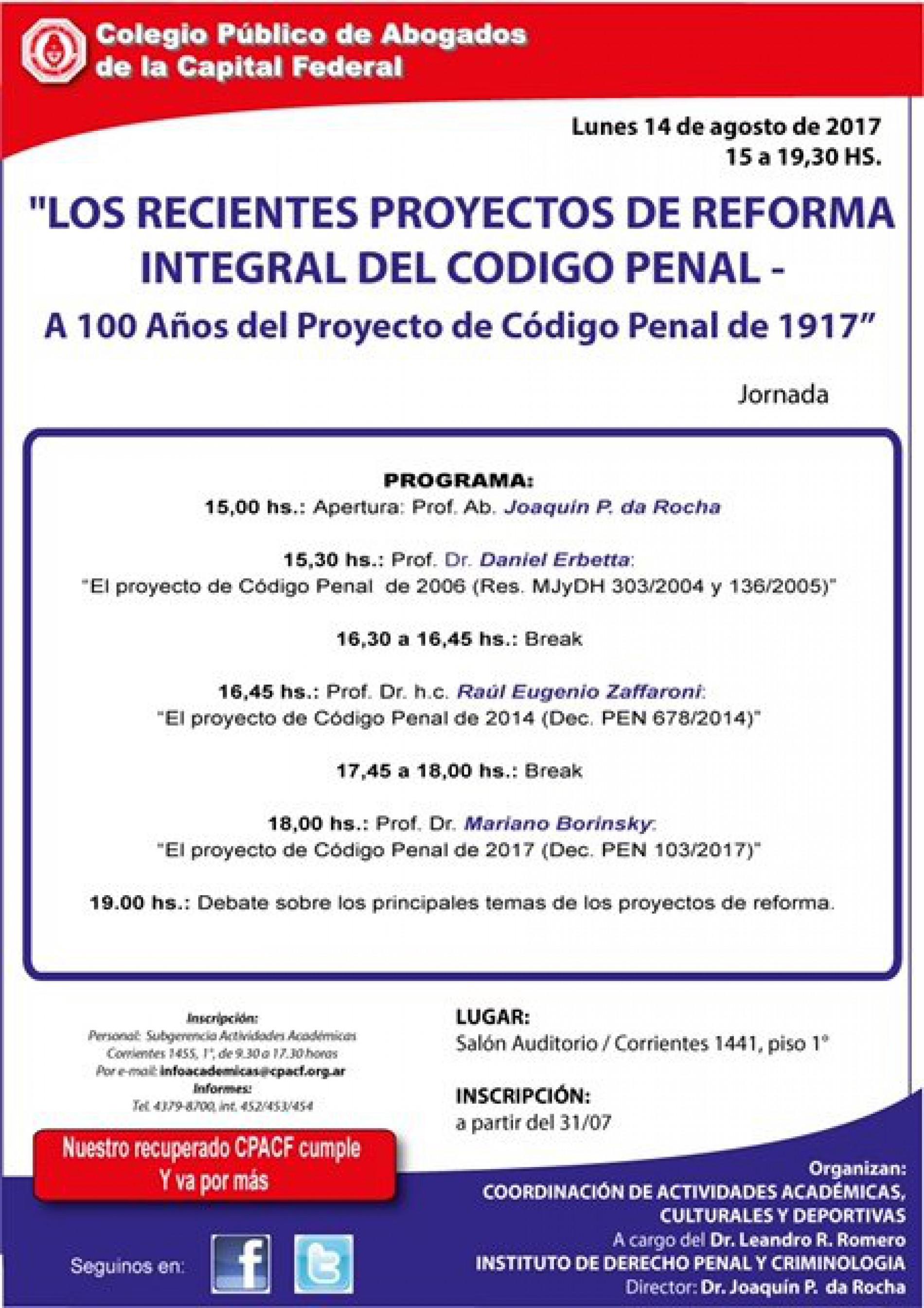 Jornada Reforma Penal