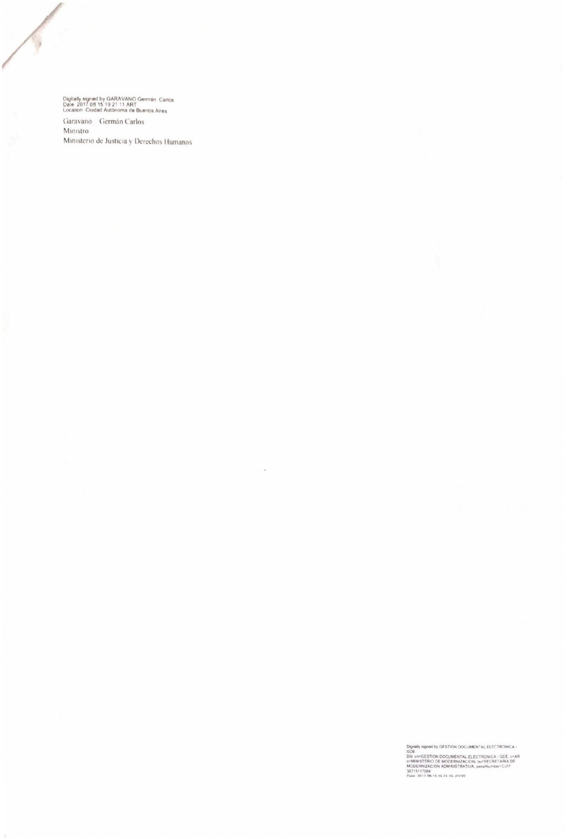 """"""" Hacia un proceso penal adversarial """": Declaración de interés del Ministerio de Justicia y Derechos Humanos de la Nación"""