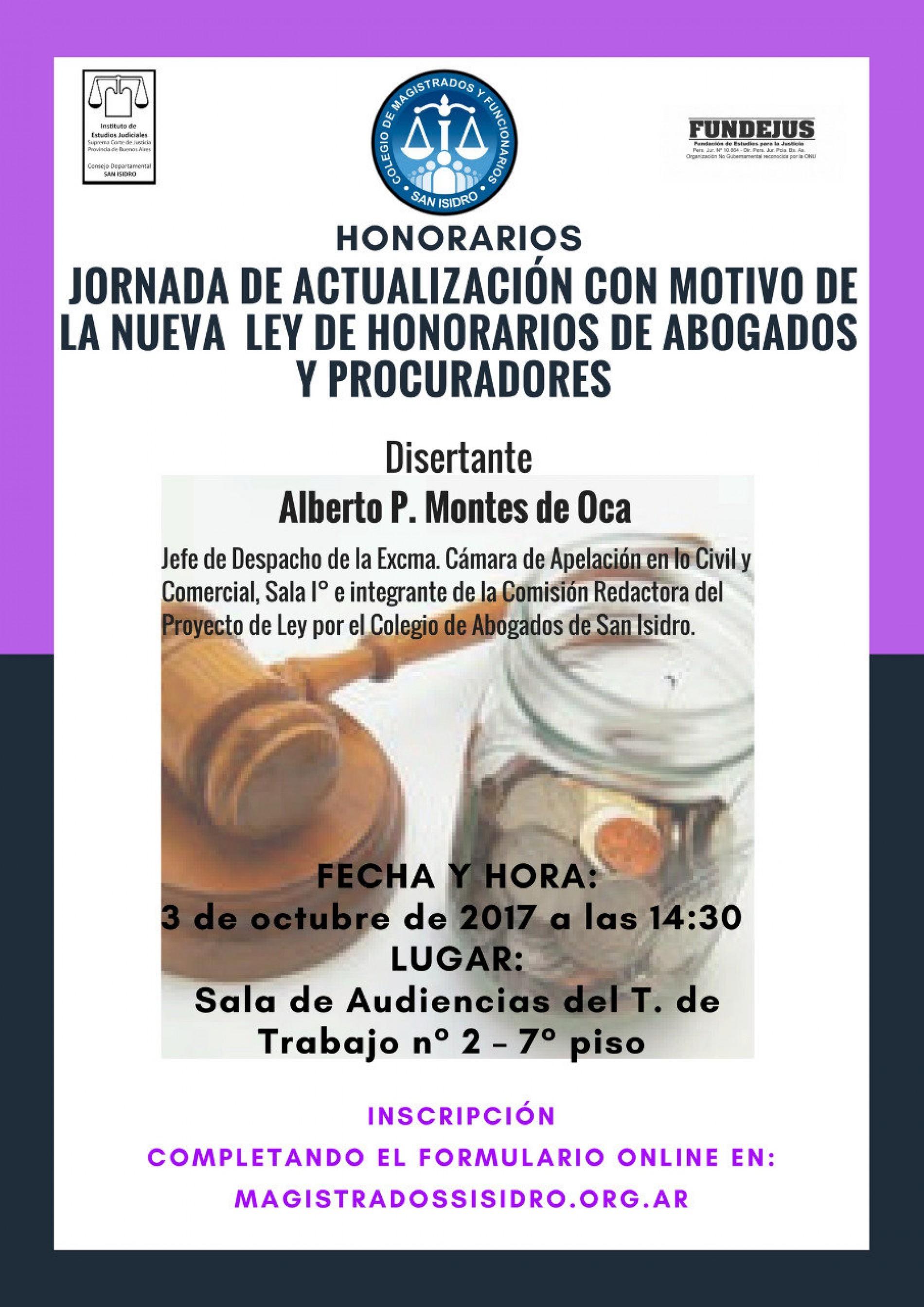 «Jornada de actualización con motivo de la nueva ley de honorarios de abogados y procuradores»