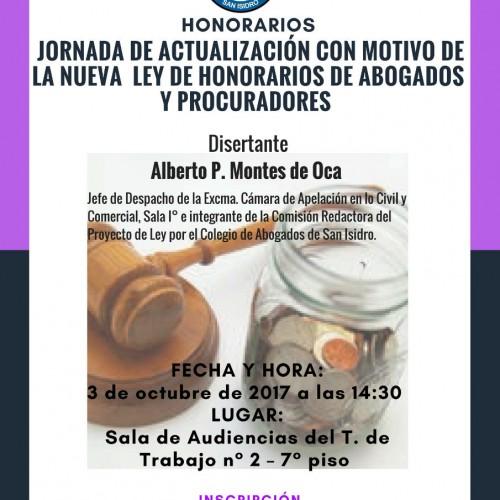 """""""Jornada de actualización con motivo de la nueva ley de honorarios de abogados y procuradores"""""""