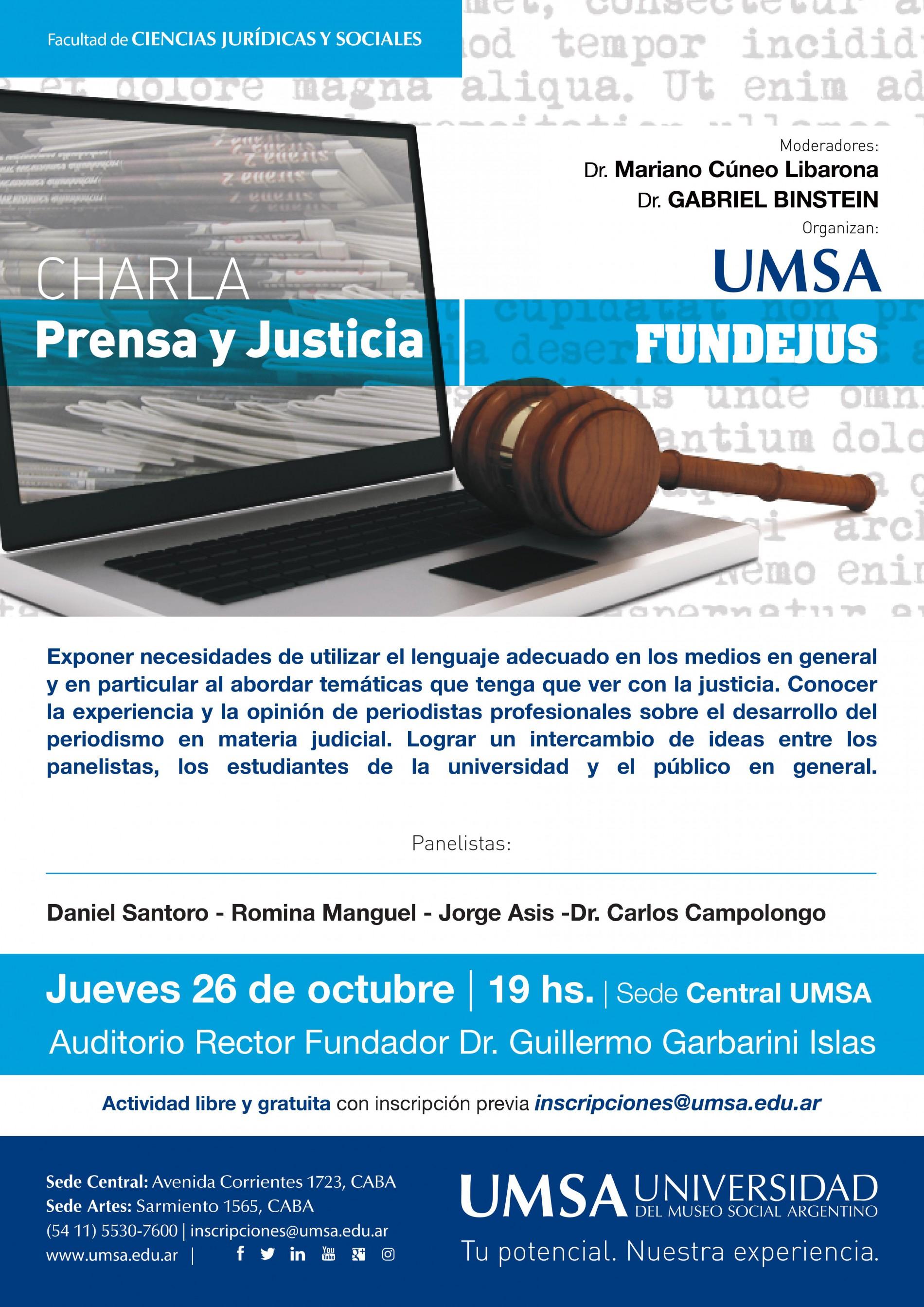 Charla PRENSA Y JUSTICIA