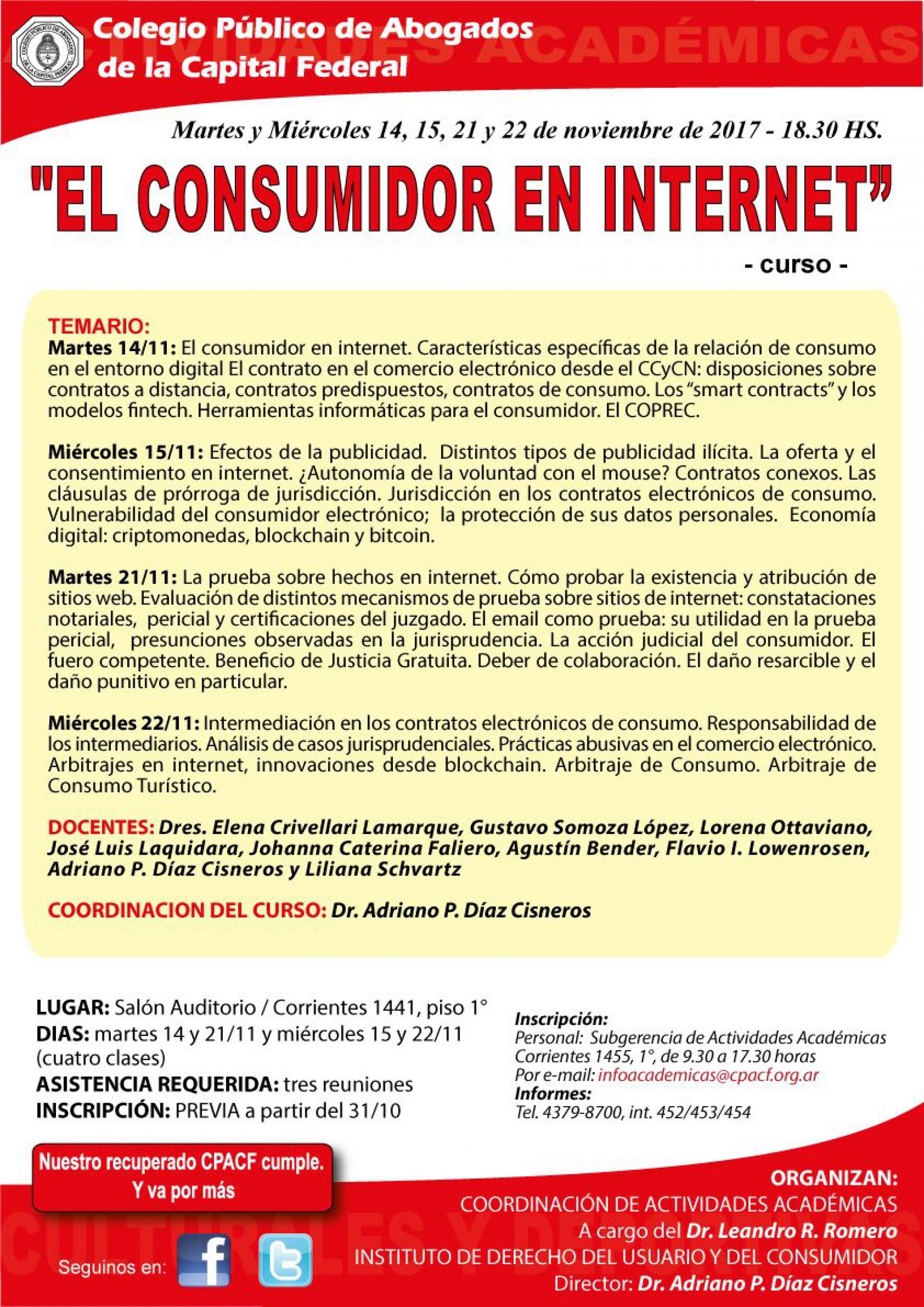 Curso «El consumidor en internet»