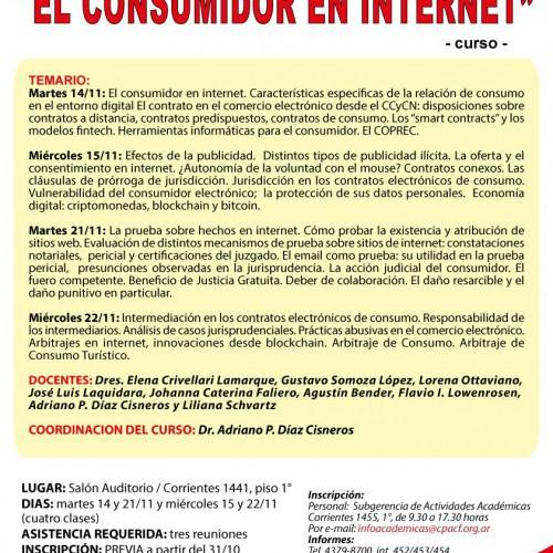 """Curso """"El consumidor en internet"""""""