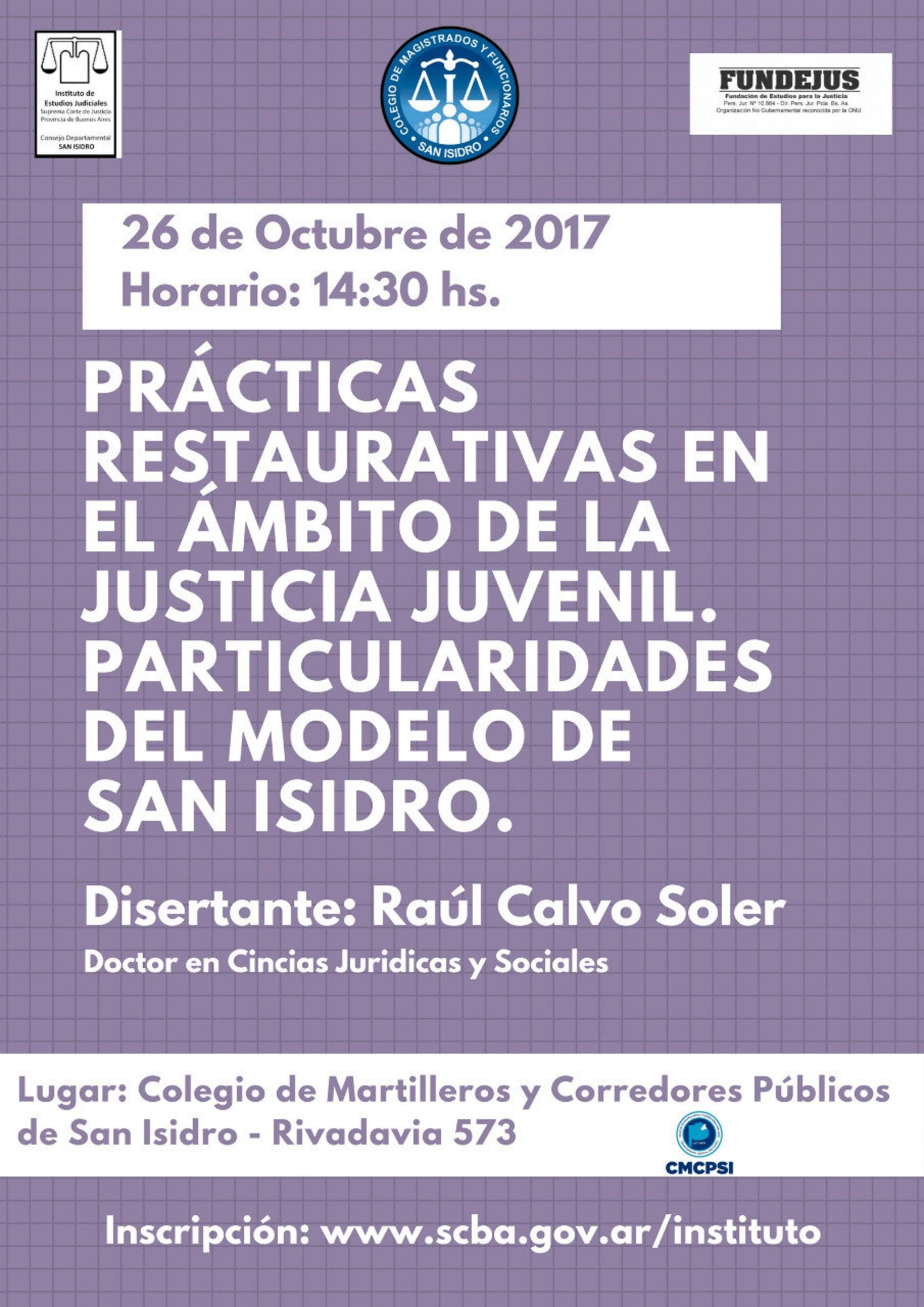 Prácticas restaurativas en el ámbito de la justicia juvenil. Particularidades del modelo de San Isidro