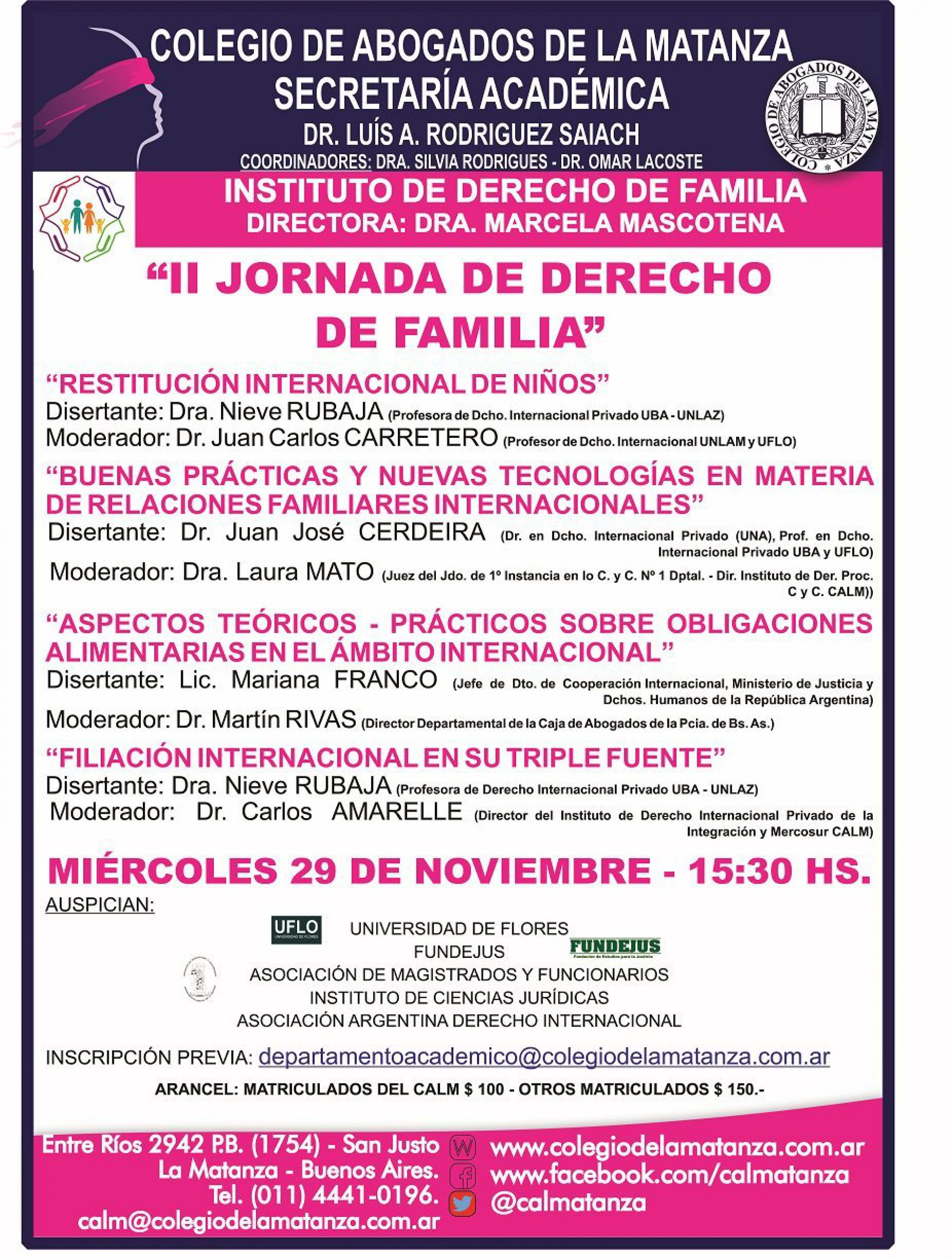 «II Jornada de derecho de familia»