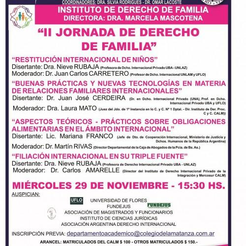 """II Jornada de derecho de familia"""