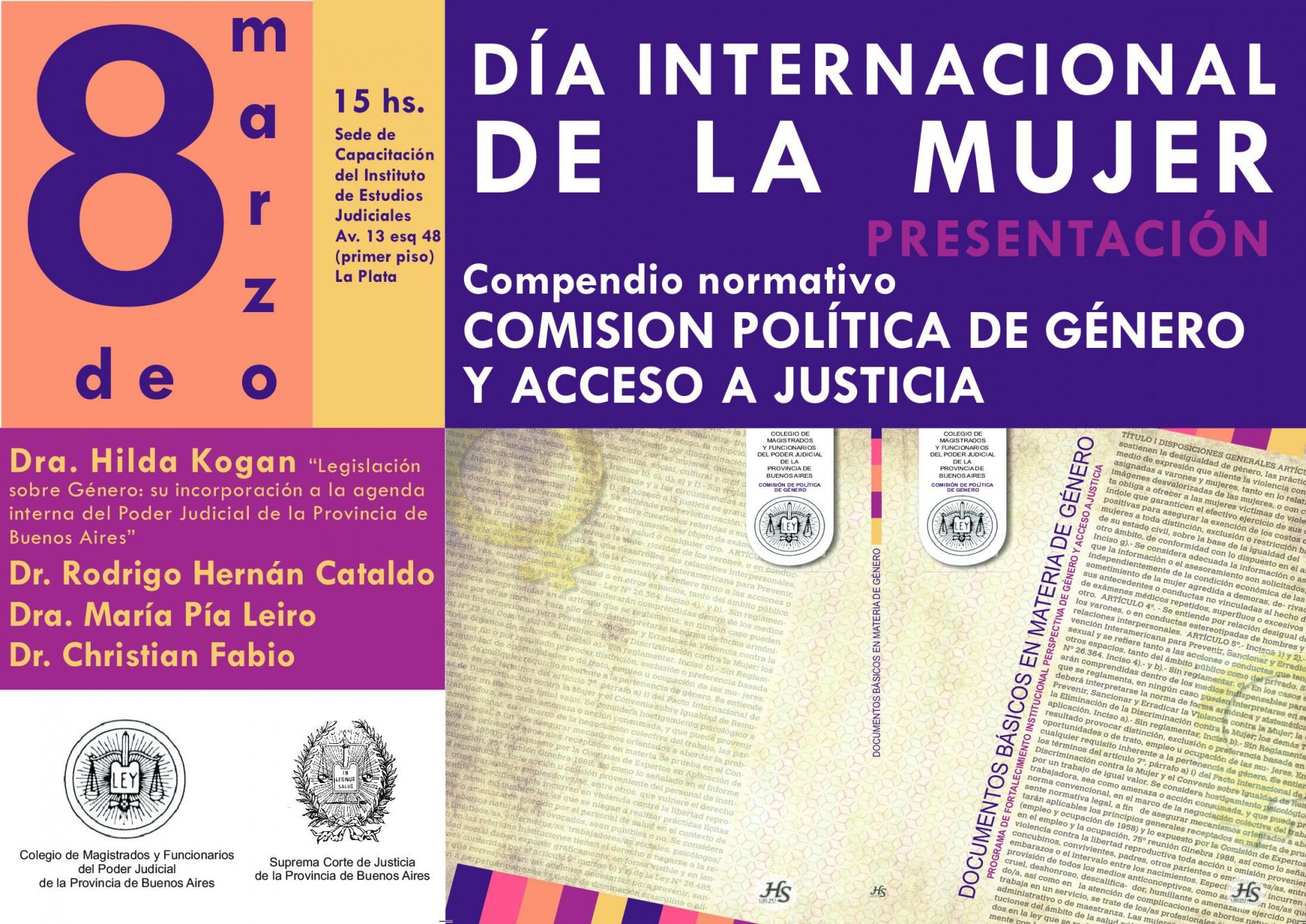 Comisión de política de género y acceso a Justicia del Colegio de Magistrados y Funcionarios del Poder Judicial de la Provincia de Buenos Aires