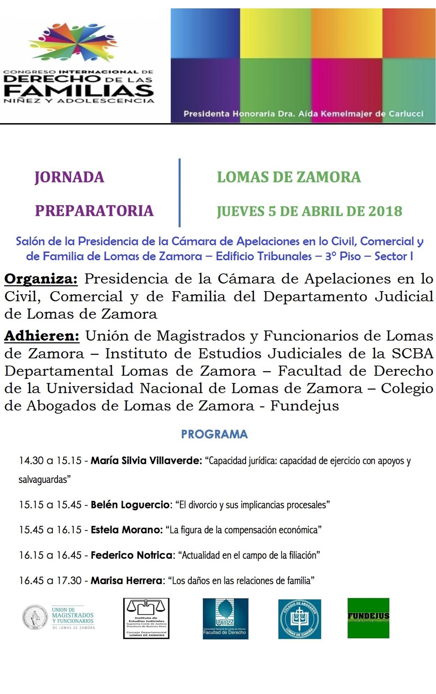 «Congreso Internacional de Derecho de las Familias. Niñez y Adolescencia»  Jornada Preparatoria