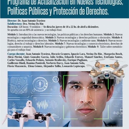 Programa de actualización en nuevas tecnologías, políticas públicas y protección de derechos
