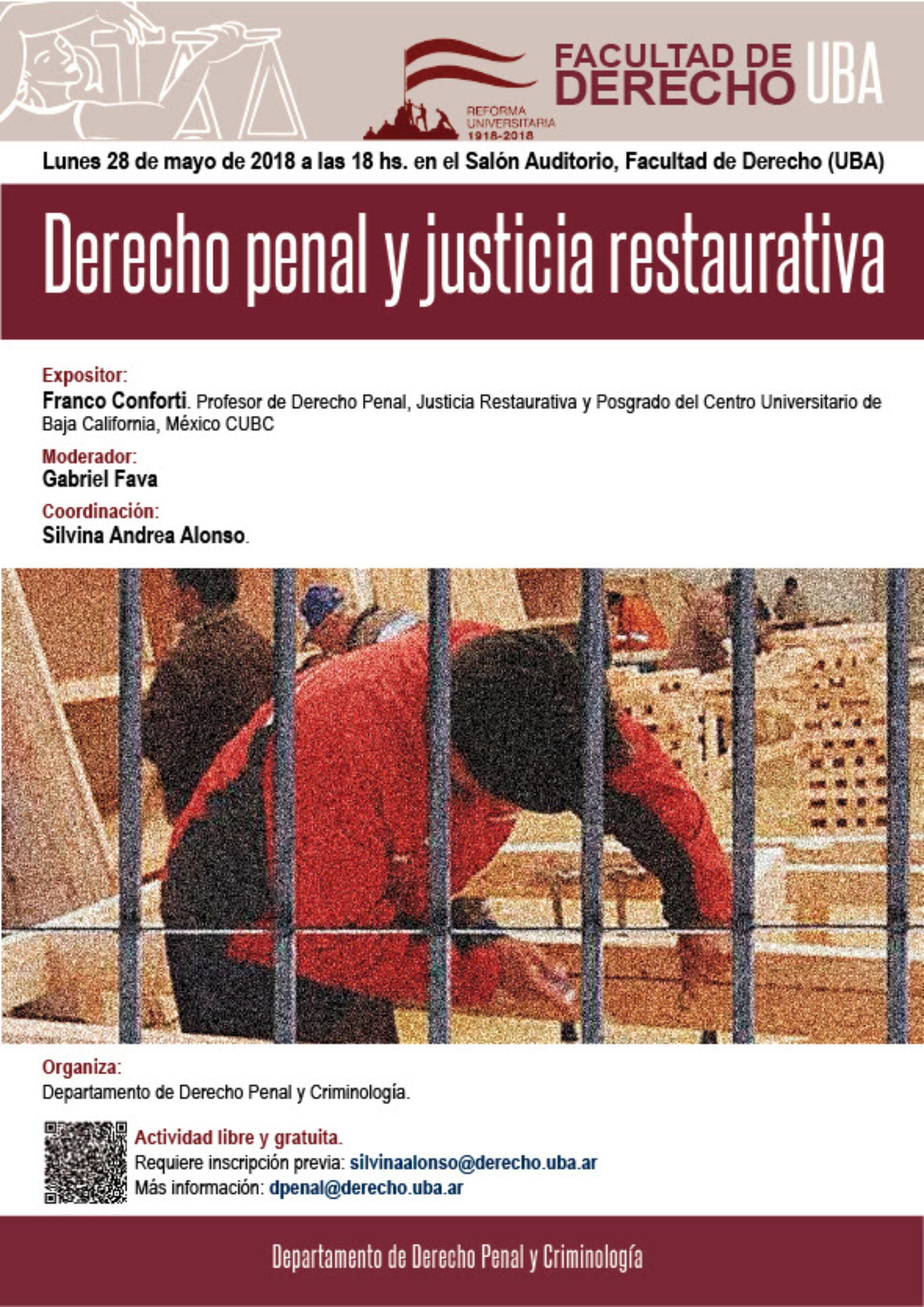 Exposición sobre «Derecho Penal y Justicia Restaurativa».