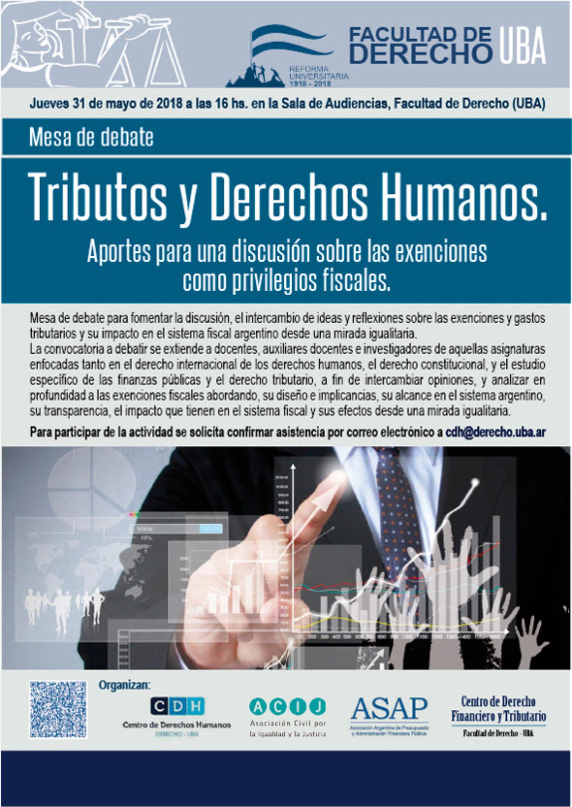Mesa de debate: «Tributos y Derechos Humanos: aportes para una discusión sobre las exenciones como privilegios fiscales»