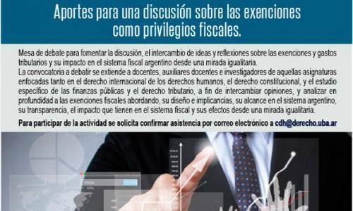 """Mesa de debate: """"Tributos y Derechos Humanos: aportes para una discusión sobre las exenciones como privilegios fiscales"""""""
