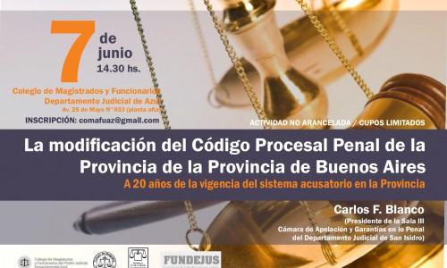 """""""La modificación del Código Procesal Penal de la Provincia de Buenos Aires"""""""