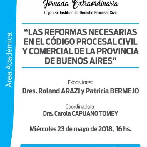 """""""Reformas necesarias en el Código Procesal Civil y Comercial de la Provincia de Buenos Aires""""."""