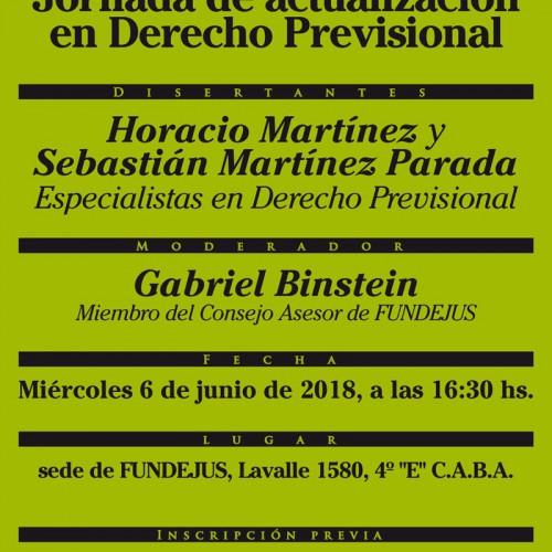 «Jornada de Actualización en Derecho Previsional».