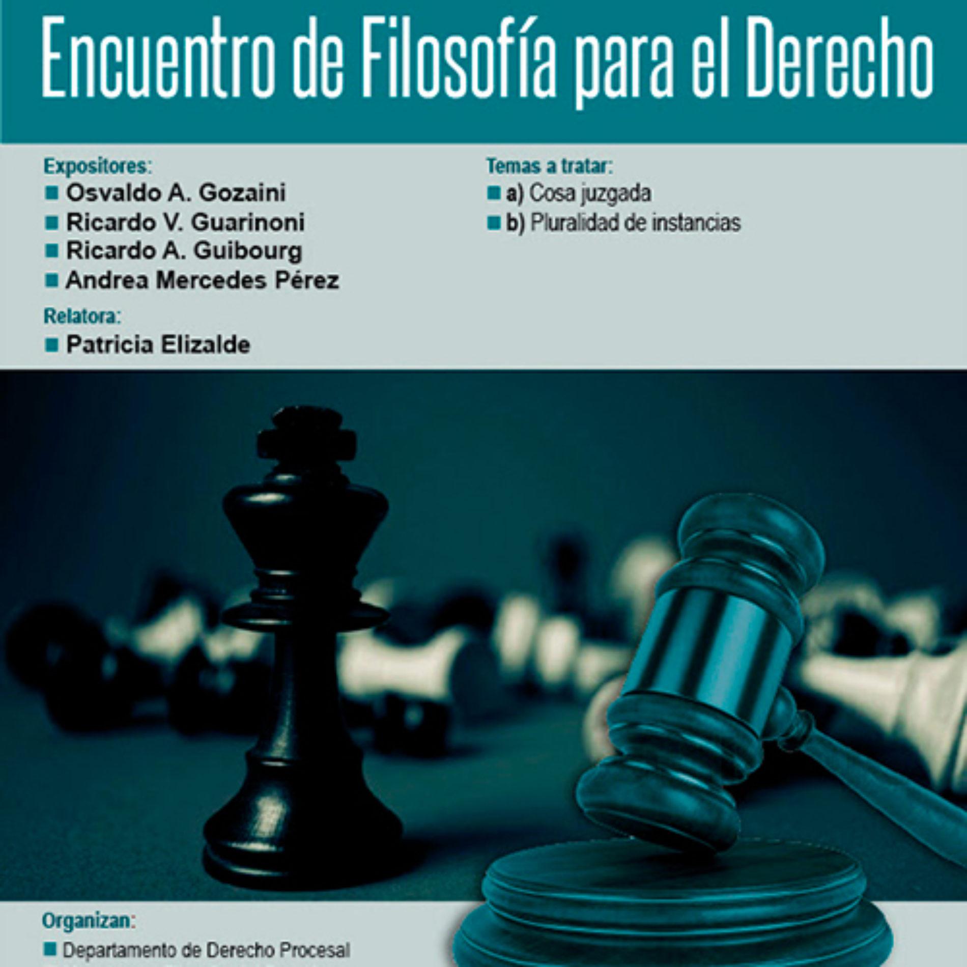 """""""Encuentro de Filosofía para el Derecho"""""""