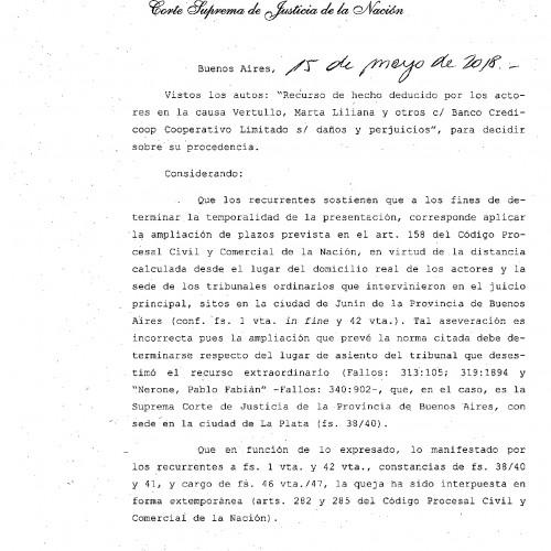 """""""Fallo de la Corte Suprema de Justicia de la Nación: s/ Recurso Extraordinario."""""""